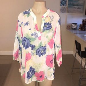 CHICOS Floral Light Tunic